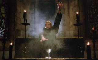 Johnny Alucard (Christopher Neame) presides over the Black Mass, Dracula A.D. 1972