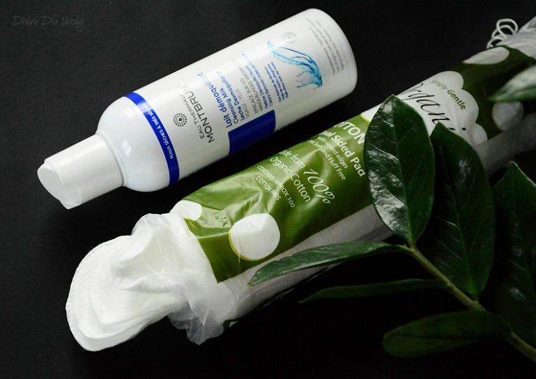 Simply Gentle Organic - organiczne waciki w płatkach i mleczko do demakijażu twarzy Montbrun