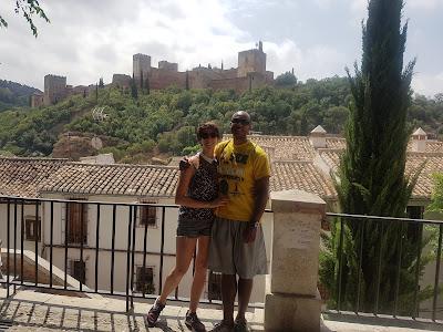 La Alhambra from a small mirador in El Albacín
