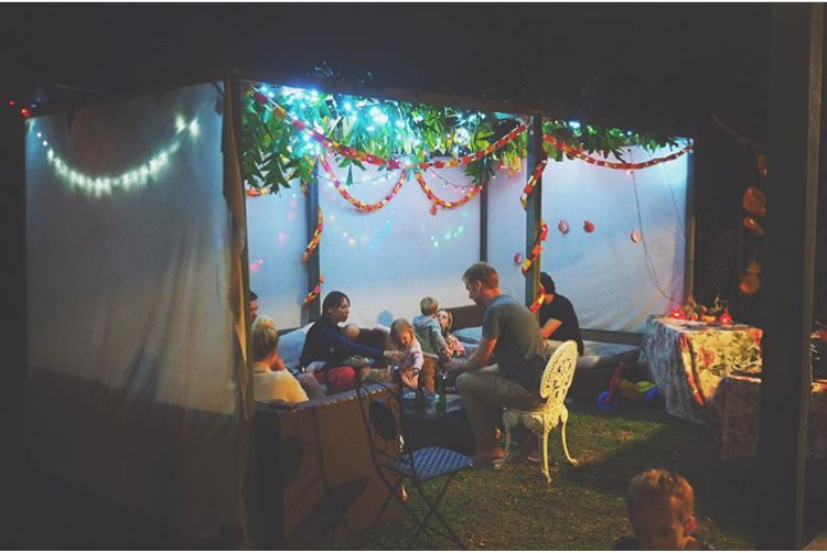 An evening in the sukkah for Sukkot | Land of Honey