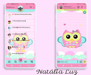 Owl Cute Theme For YOWhatsApp & Fouad WhatsApp By Natalia Luz
