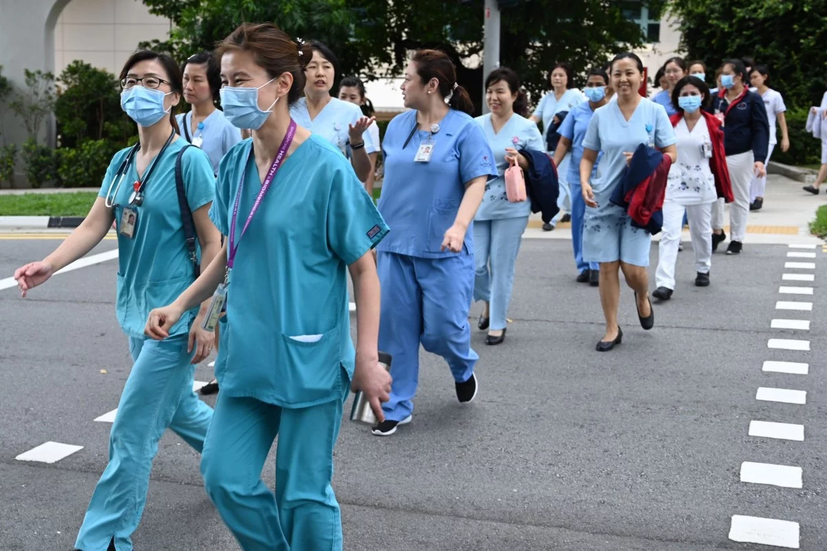 Why are there so few coronavirus infections in Singapore's health workers?, posted on Wednesday, 01 April 2020