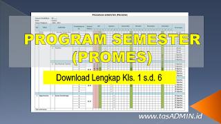 Download prosem program semester kelas SD