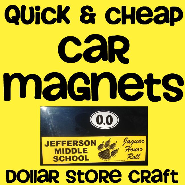 Bumper sticker turned car magnet