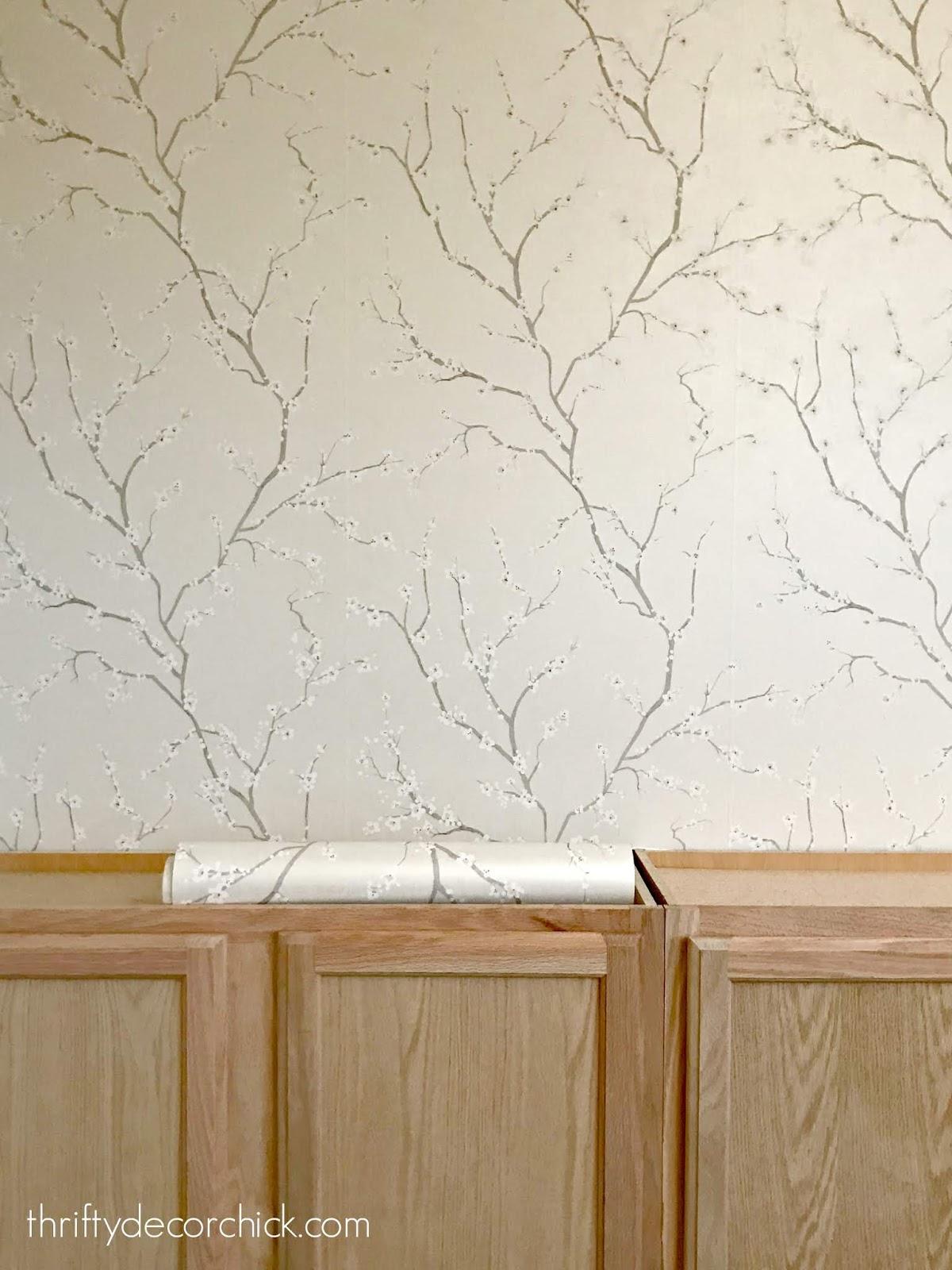 Cherry blossom peel and stick wallpaper
