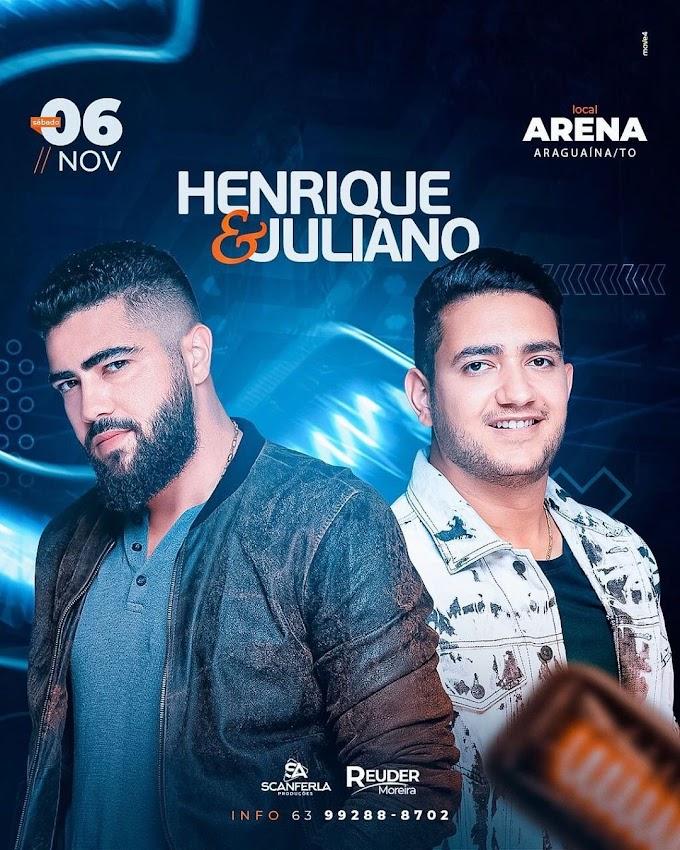 PREÇO DOS INGRESSOS E INFORMAÇÕES - SHOW DE HENRIQUE & JULIANO EM ARAGUAÍNA-TO
