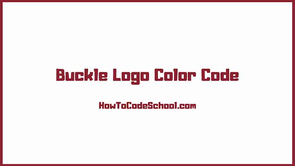 Buckle Logo Color Code
