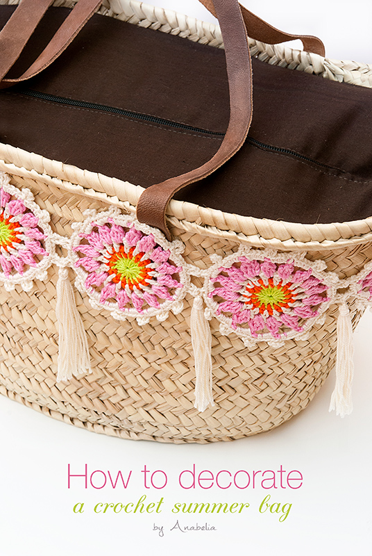 Anabelia craft design: How to decorate a summer bag with ...