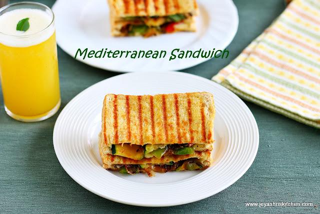 Mediterranean veg sandwich