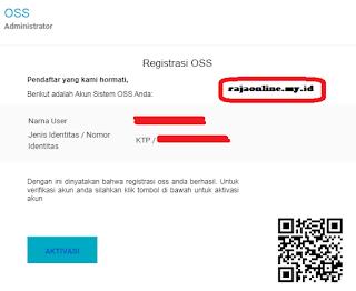 aktivasi email pendaftaran UMKM online