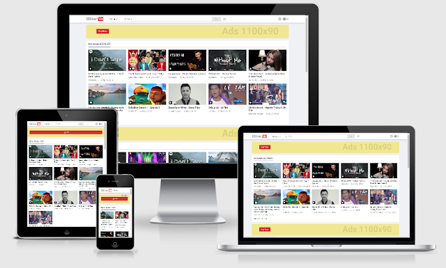 Template Blogspot chia sẻ video giao diện responsive giống Youtube