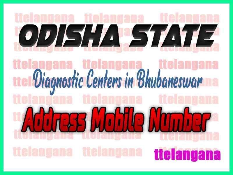 Diagnostic Centers in Bhubaneswar In Odisha
