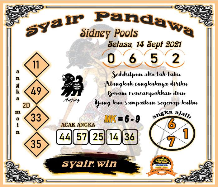 Syair Pandawa SDY Selasa 14 September 2021