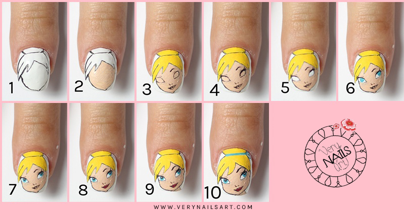 nail-art-disney-campanilla-paso-paso