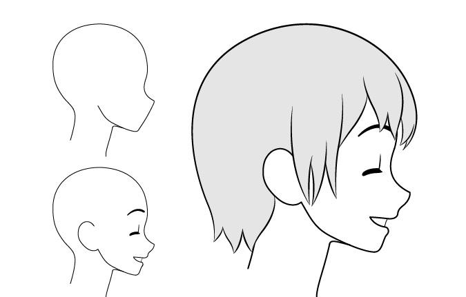 Gambar tampilan sisi konten gadis anime