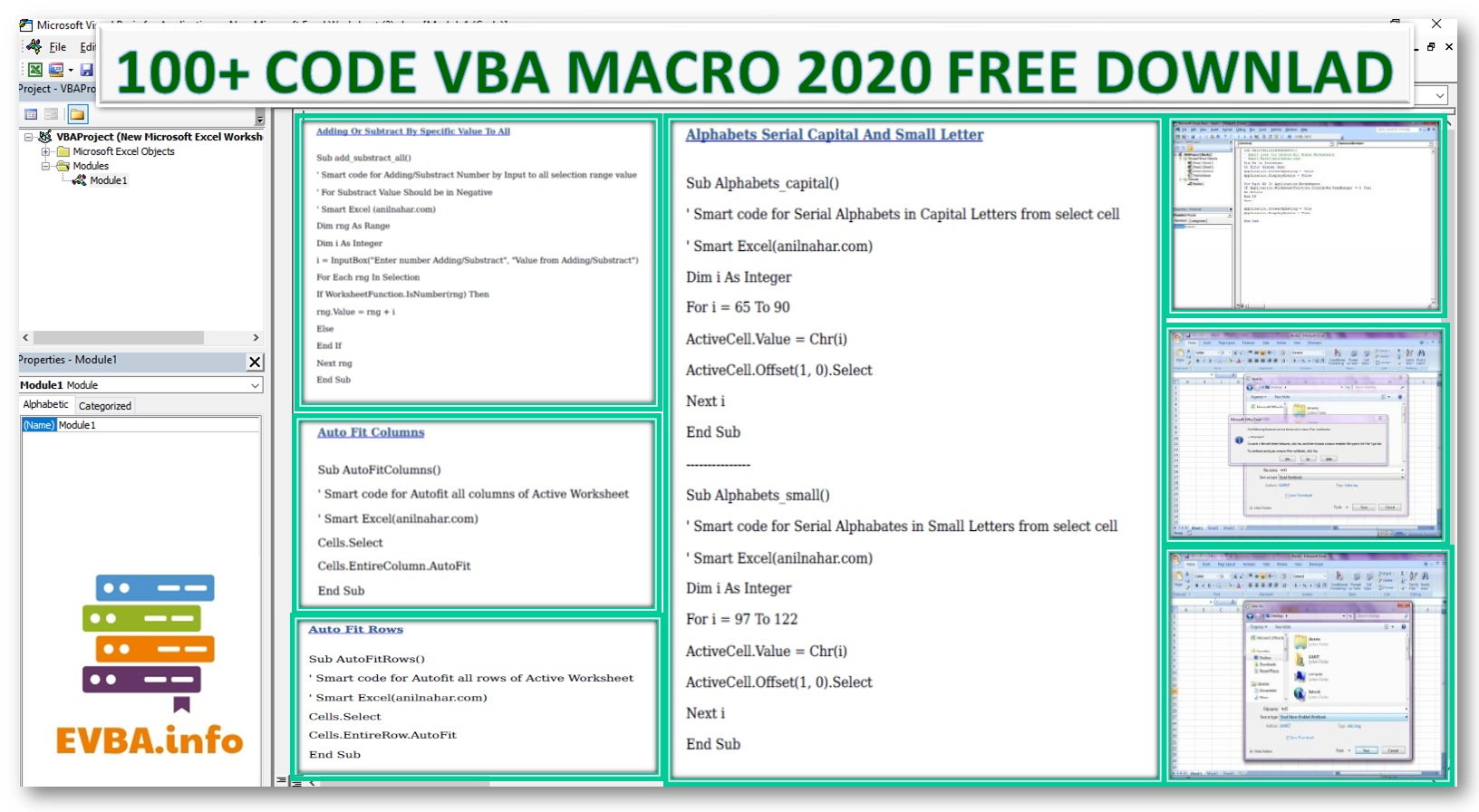 100+ Powerful Excel VBA Code Free Download PDF