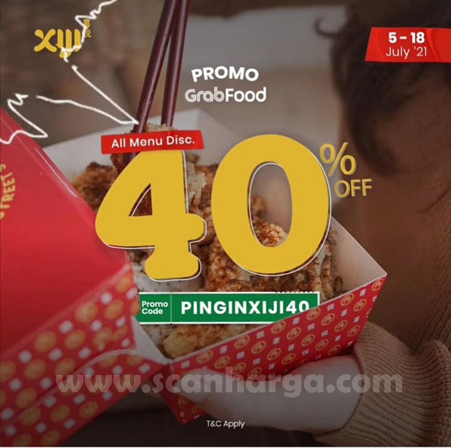 Promo XIJI STREET SNACK DISKON hingga 40% via GRABFOOD