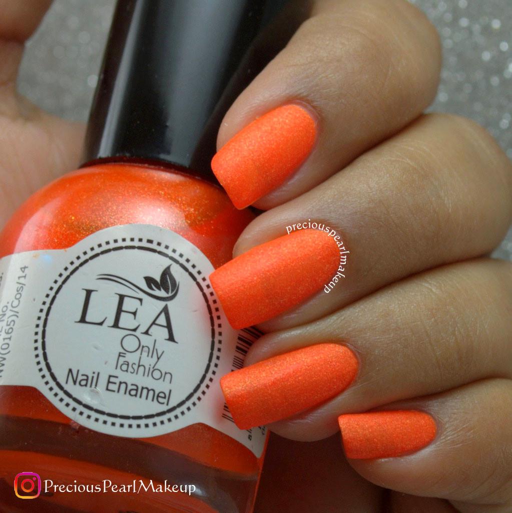 preciouspearlmakeup: Matte Orange Nails