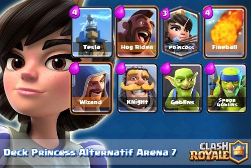 Kombinasi Deck Princess di Arena 7 Clash Royale