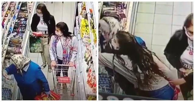 Две карманницы, укравшие кошелек у пенсионерки в Таганроге, попали на видео!