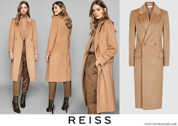 Meghan Markle wore Reiss Sabel camel slim wool coat