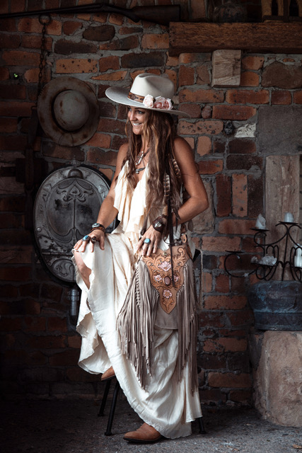 BUFFALO GIRL HANDMADE LEATHER ACCESSORIES COWGIRL BRIDES SERJOSHA CLARKE PHOTOGRAPHY