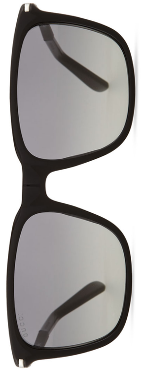 Gucci Plastic Square-Frame Sunglasses in Black