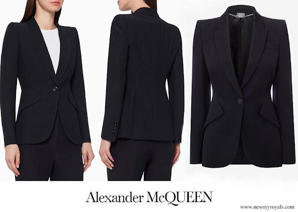 Crown Princess Mary wore Alexander McQueen Leaf Crepe blazer