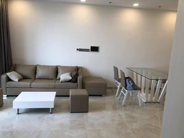 Bán căn hộ Vinhomes Bason 2 phòng ngủ tầng thấp Aqua3 có sẵn nột thất