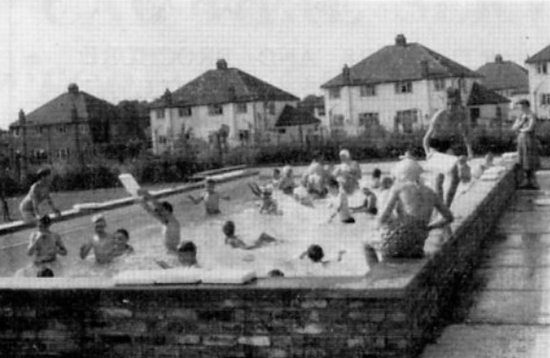 Brookmans Park Primary School swimming pool 1959 Photographer unknown, image taken from the Village Day programme 1960