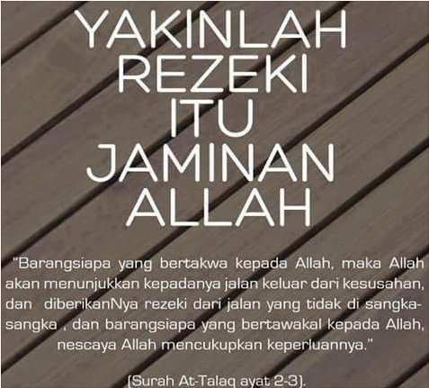 Yakinlah Rezeki Itu Jaminan ALLAH, Ini Cara Menjemputnya