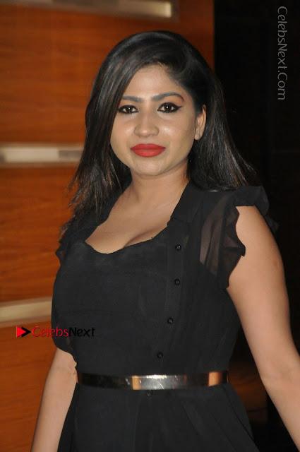 Telugu Actress Model Madhulagna Das Latest Spicy Stills in Black Short Dress  0001.JPG