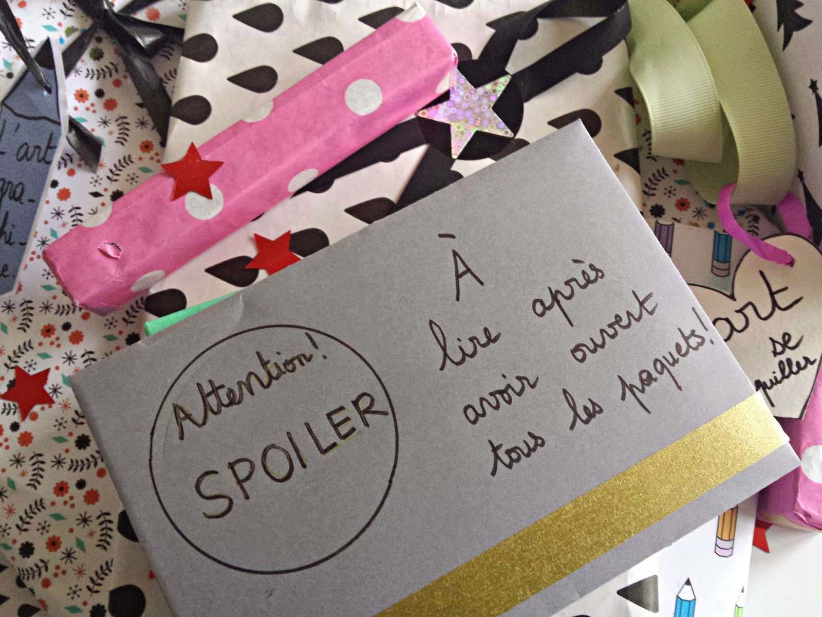 surprise spoiler cadeau noel