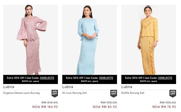 Koleksi Baju Raya 2020, Harga Bawah RM200 Hanya di Zalora