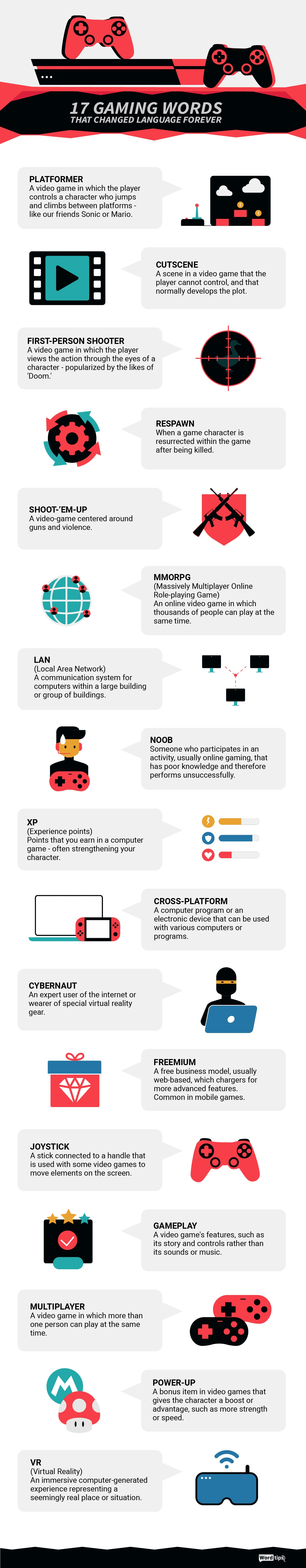 17 Gaming Words that Changed Language Forever #infographic