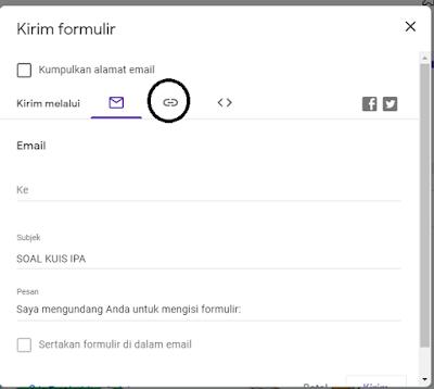 Send Google Form Link