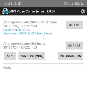 Change audio format and bitrate