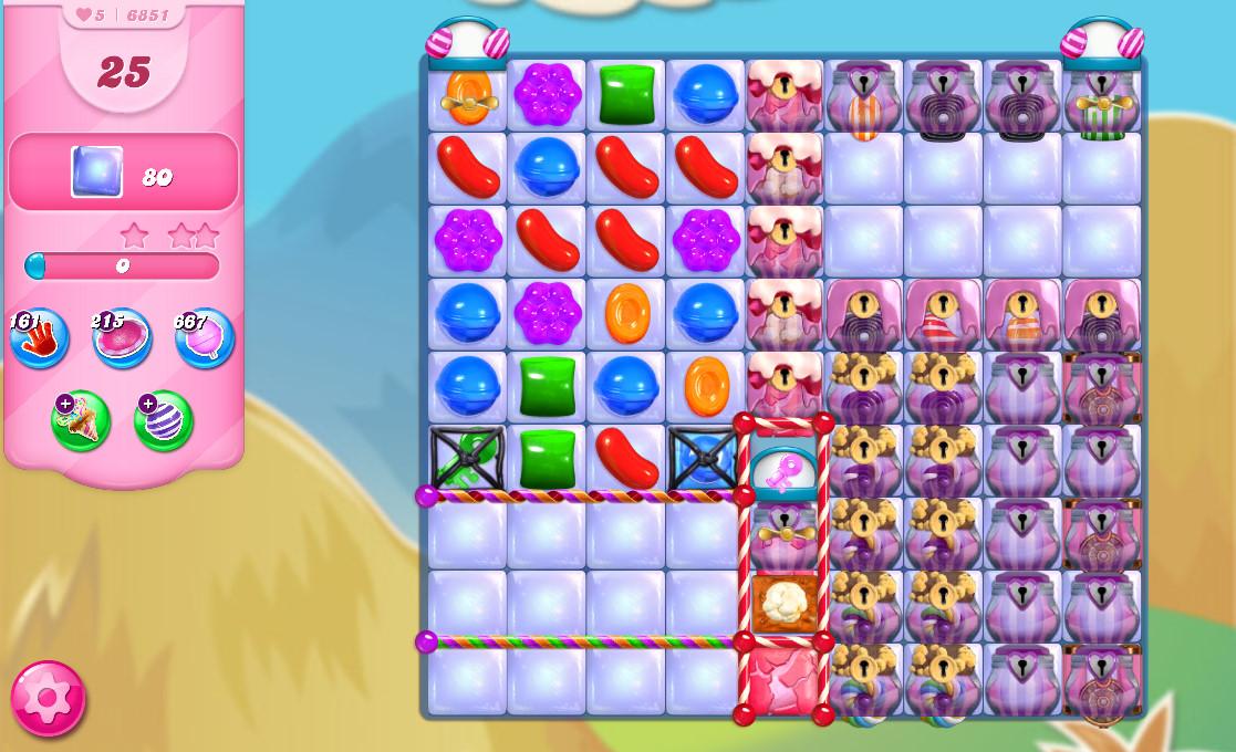 Candy Crush Saga level 6851