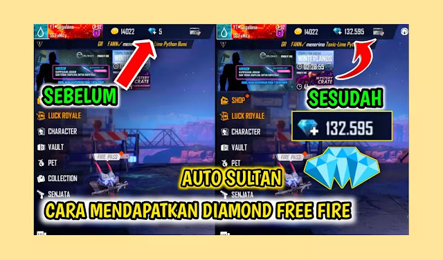 Download Free Fire (FF) APK Mod + OBB Unlimited Diamond