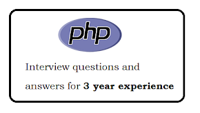 PHP interview questions and answers for 3 year experience