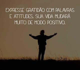 Expresse gratidão com palavras e atitudes