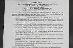 Update terbaru hasil konsep kesepakatan antara PTPN XIII dan Masyarakat kemarin Senin, 27 Juli 2020
