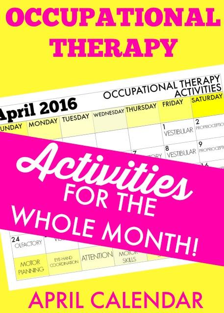 April Calendar Questions : April occupational therapy calendar ideas the ot toolbox