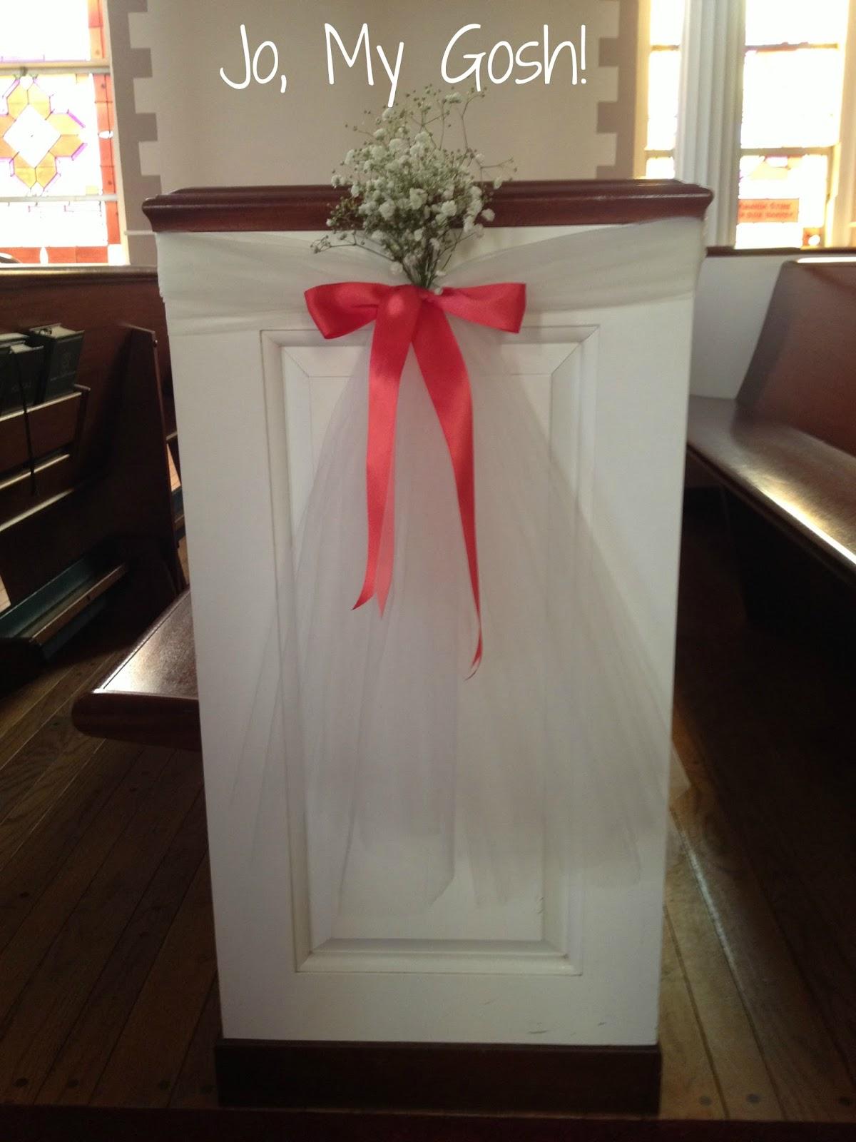 Jo, My Gosh!: DIY Wedding Ceremony Decorations