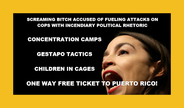 Memes: SCREAMING BITCH AOC ACCUSED OF FUELING ATTACKS ON COPS