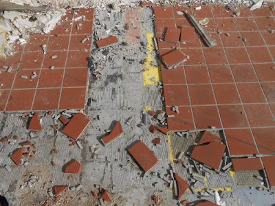 tile, broken tile, spiritual path through broken pieces, spiritual pain