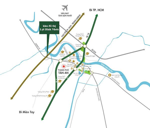 bản đồ liên kết vùng dự án lợi bình nhơn