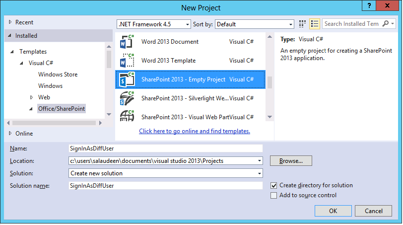 sharepoint foundation 2013 sign in as different user
