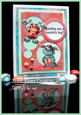 North Coast Creations Stamp Set: Little Monsters, North Coast Creations Custom Dies: Monsters, Our Daily Bread Designs Custom Dies:  Circles, Double Stitched Circles, Rectangles, Double Stitched Rectangles