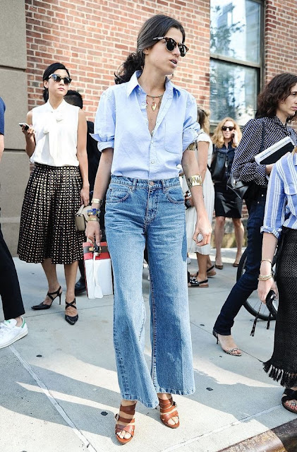WHISPER blog: CROPPED FLARE JEANS #cropped #flare #denim #jeans #estilo #style #leandramedine #manrepeller